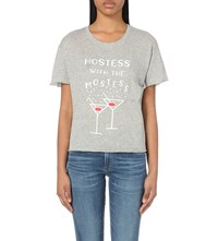 Wildfox Couture Hostess Jersey T Shirt Vintage Lace