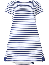 Sacai Striped Loose Fit T Shirt Dress