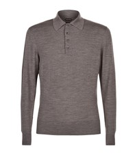 Tom Ford Wool Polo Sweater Male Grey