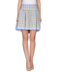 Amy Gee Skirts Mini Skirts Women Sky Blue