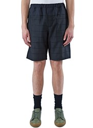 Oamc Long Checked Shorts Black