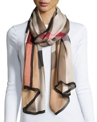 Burberry Mega Check Ultra Washed Silk Scarf
