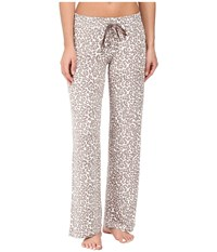 Pj Salvage Coco Chic Leopard Print Pants Natural Women's Pajama Beige