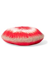 Gucci Striped Angora Blend Beret Red