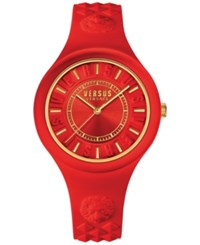 Versus By Versace Women's Fire Island Red Silicone Strap Watch 39Mm Soq10 0016