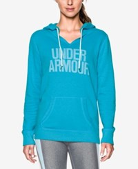 Under Armour Favorite Fleece Logo Pullover Hoodie Deceit White