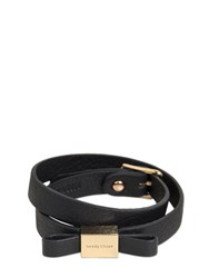See By Chloe Leather Bracelet With Bow