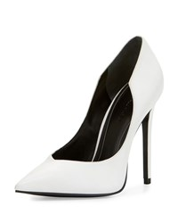 Kendall Kylie Abi Pointed Toe Leather Pump White Women's