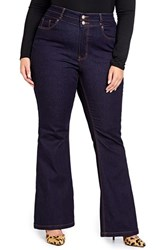 Addition Elle Love And Legend Plus Size Women's High Rise Flare Leg Jeans