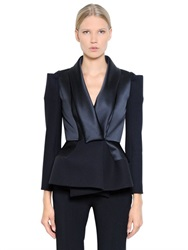 Dice Kayek Bonded Viscose Crepe And Satin Jacket