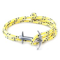 Anchor And Crew Admiral Rope And Silver Bracelet Yellow Dash