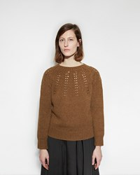 Margaret Howell Chunky Lace Pullover Tobacco