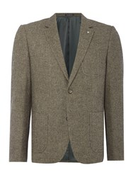 Peter Werth Aston Textured Wool Mix Blazer Sand