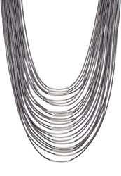 Sweet Deluxe Liv Necklace Silver Grey Gunmetal