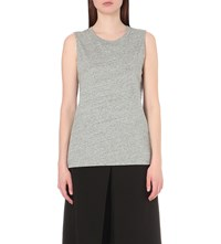 Izzue Sleeveless Cotton Jersey T Shirt Gy2