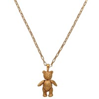 Mirabelle Large Bear Pendant Chain Necklace Gold