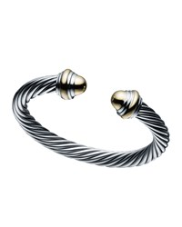 David Yurman 7Mm Cable Classics Bracelet Size Large Silver
