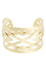 Panacea Women's Brushed Cage Cuff Gold