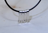 Personalized Sterling Silver Mulitple Bar Necklace By Nicilaskin
