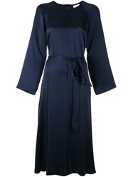 Forte Forte Tie Waist Dress Blue