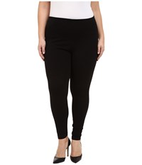 Lysse Plus Size Denim Leggings Black Women's Casual Pants