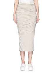 James Perse Shirred Double Layer Tube Skirt Brown