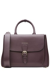 Burberry Shoes And Accessories Leather Tote Purple