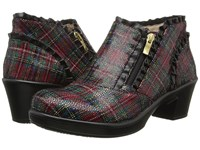 Alegria Hannah Tartan Women's Pull On Boots Brown