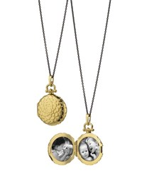 Monica Rich Kosann 18K Petite Scallop Locket Necklace