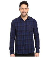 Mavi Jeans Checked Shirt Mood Indigo Check Men's Clothing Blue