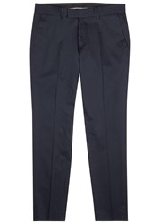 Tiger Of Sweden Gordon Navy Stretch Cotton Trousers