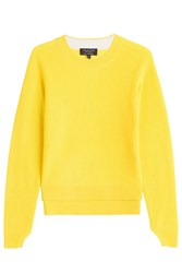 Rag And Bone Cashmere Ribbed Pullover Yellow