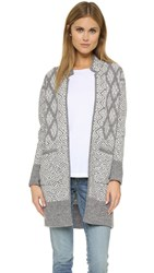 Twelfth St. By Cynthia Vincent Long Jacket Sweater Grey