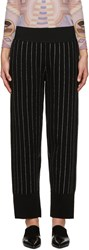 Opening Ceremony Black Metallic Pinstripe Trousers