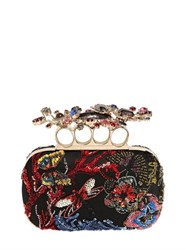 Alexander Mcqueen Swarovski Embellished Knuckle Box Clutch