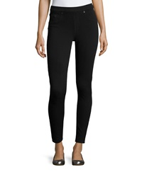 Spanx Jean Ish Twill Leggings Very Black