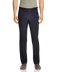 The Men's Store At Bloomingdale's Heavy Twill Regular Fit Trousers Navy Blue