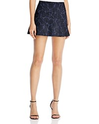 Aqua Rose Jacquard Skirt Navy Black