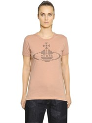 Vivienne Westwood Embroidered Logo Cotton Jersey T Shirt