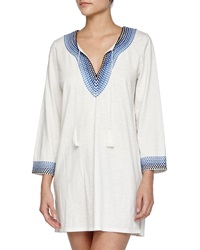Soft Joie Ashvini Printed Trim Cotton Tunic Dress
