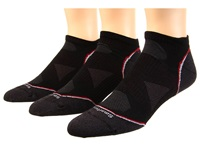 Smartwool Phd Cycle Ultra Light Micro 3 Pack Black Men's Low Cut Socks Shoes