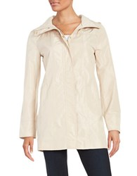 Ellen Tracy Petite Packable Rain Coat Beige