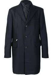 Corneliani Bib Single Breasted Coat Black
