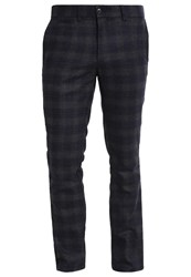 Banana Republic Aiden Trousers Navy Dark Blue