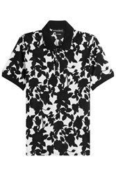 Alexander Mcqueen Printed Cotton Polo Shirt Multicolor
