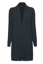 James Lakeland Ribbed Cardigan Green