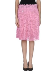 Muveil Knee Length Skirts Pink
