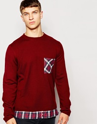 Another Influence Long Line Shirt Jumper Red
