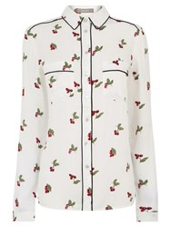 Oasis Cherry Piped Shirt Multi