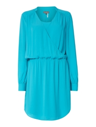 Vince Camuto Longsleeve Crossover Front Dress Blue